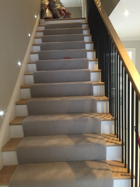 Grey Stair Carpet Runner In North London Client: Private Residence In North  London Brief: To Supply U0026 Install Carpet As A Runner To Stu2026