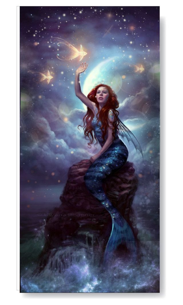 """""""Chasing dreams"""" by faby1817 ❤ liked on Polyvore featuring arte, mermaid e fantasy"""