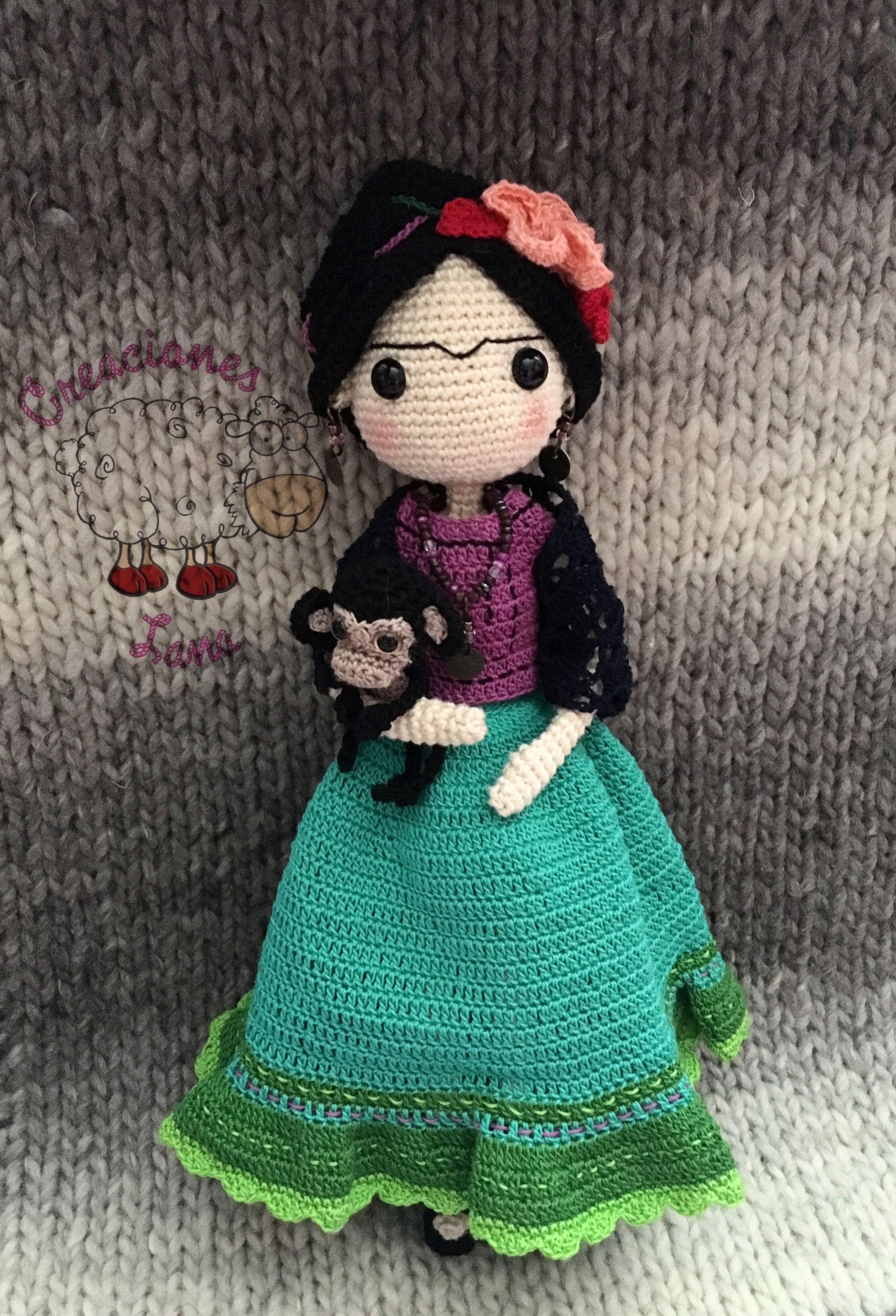 Frida Kahlo crochet | Tejidos | Pinterest | Frida, Frida kahlo y Muñecas