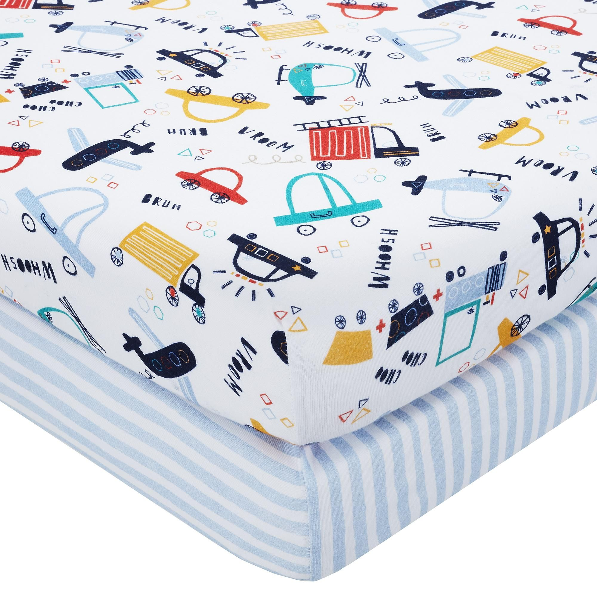 Chicco Baby Hug Crib Fitted Sheets Pack Of 2 Little Animals
