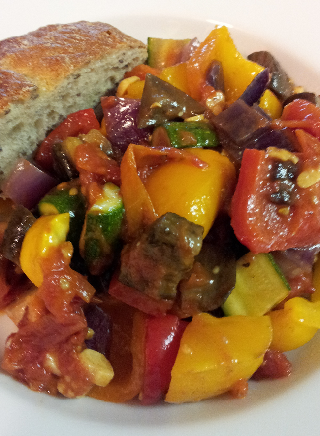 Oven Roasted Vegetable Ratatouille An excellent vegetarian dish.Vegetables cooked in halogen (turbo) oven.Simply yet totally delicious! #vegetables #ratatouille