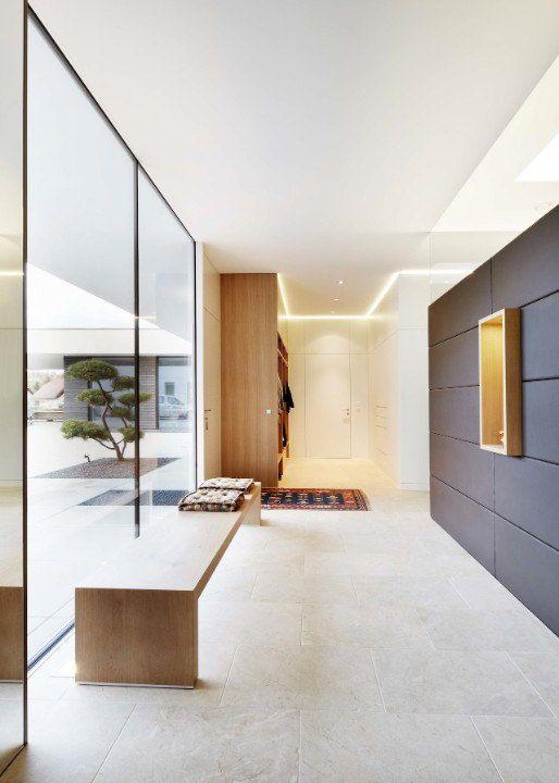 Modernes Wohnhaus Im Bezirk Grieskirchen Natursteinfliesen Haus
