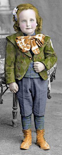 vintage child...boy?  girl?  It looks colorized