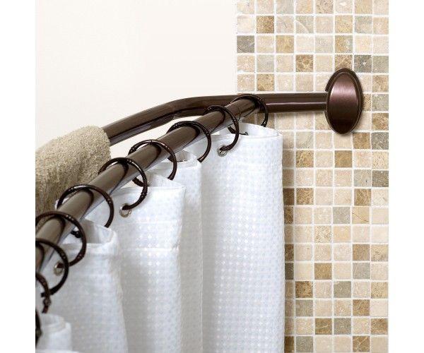 Shower Curtain Rod Stainless Steel | Hotel shower curtain, Shower ...