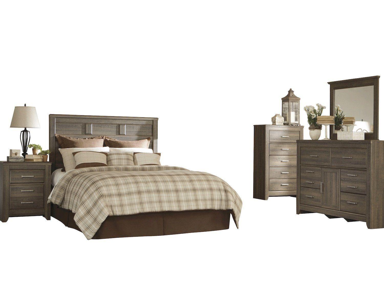ashley juararo 5pc e king cal panel headboard bedroom set