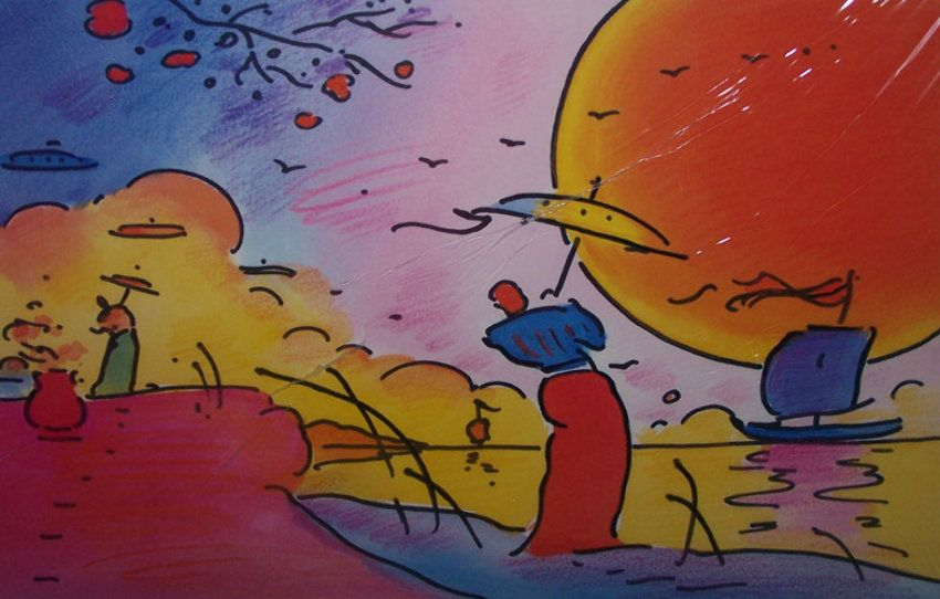 """Limited Edition Print """"Two Sages of Sun"""" by Peter Max"""