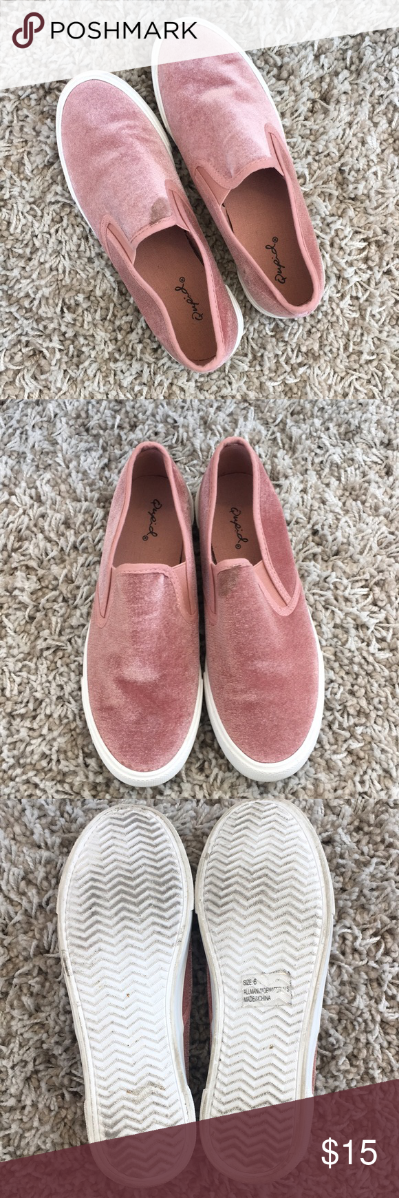 Light Pink Qupid Slip On  Shoes Sneakers Customer Support And