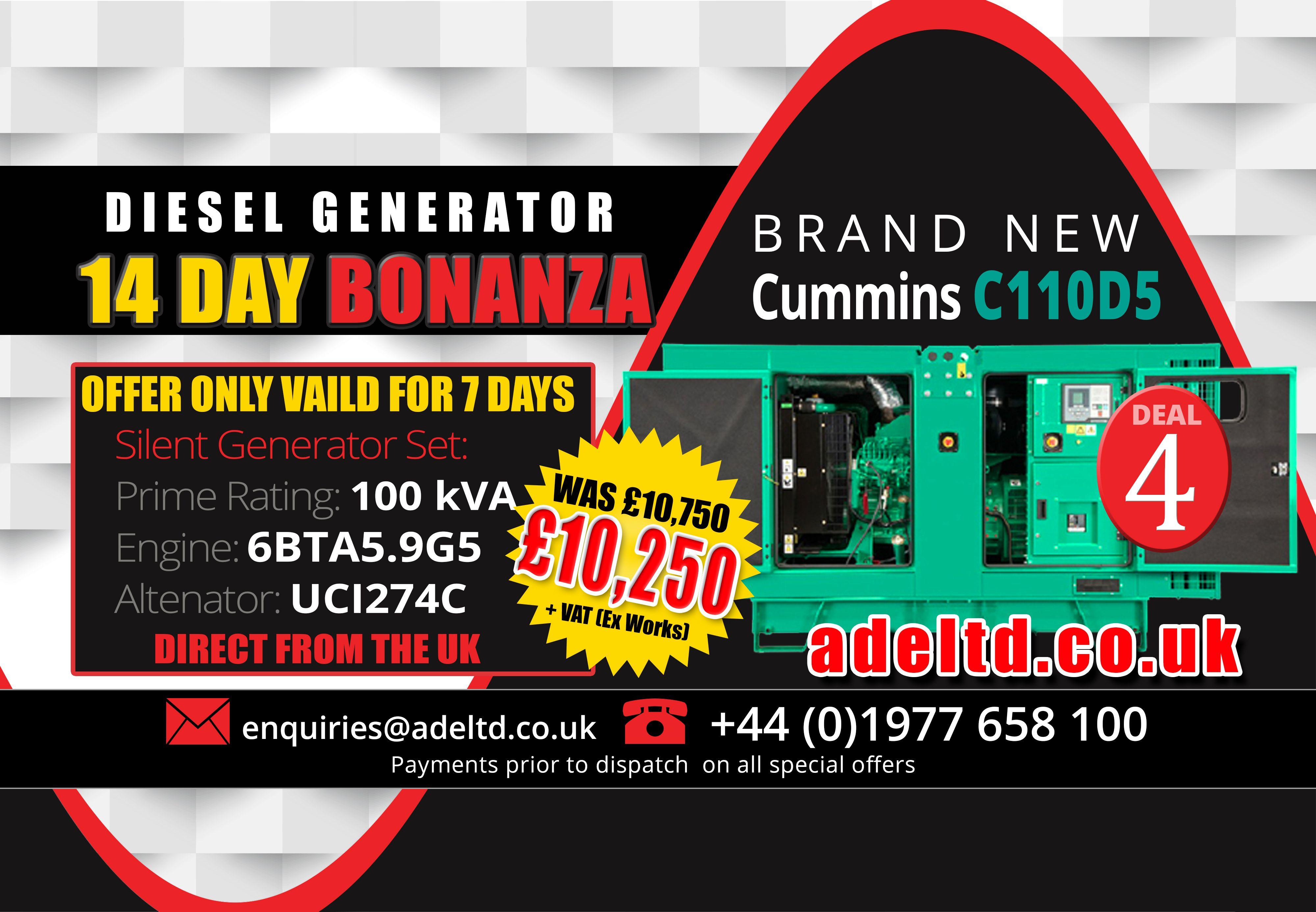 It s day 4 of the Advanced 14 Day DieselGenerator Bonanza at