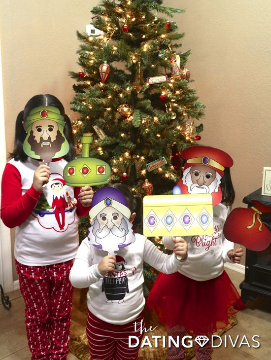 Free printable nativity masks to act out the Christmas story as a family on Christmas Eve