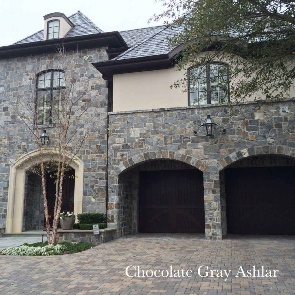 Chocolate Gray Ashlar Google Search Stone Exterior Houses Exterior Stone House Exterior