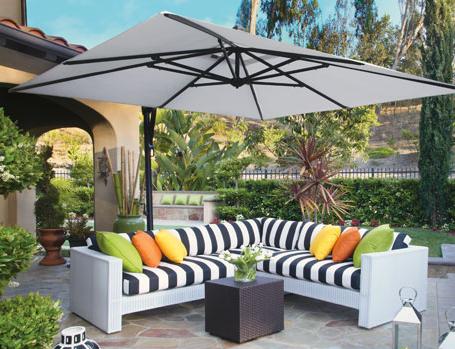 Create An Oasis In Your Backyard Treasure Garden Luxury Outdoor Umbrellas Outdoor Decor Patio Design Patio Umbrella