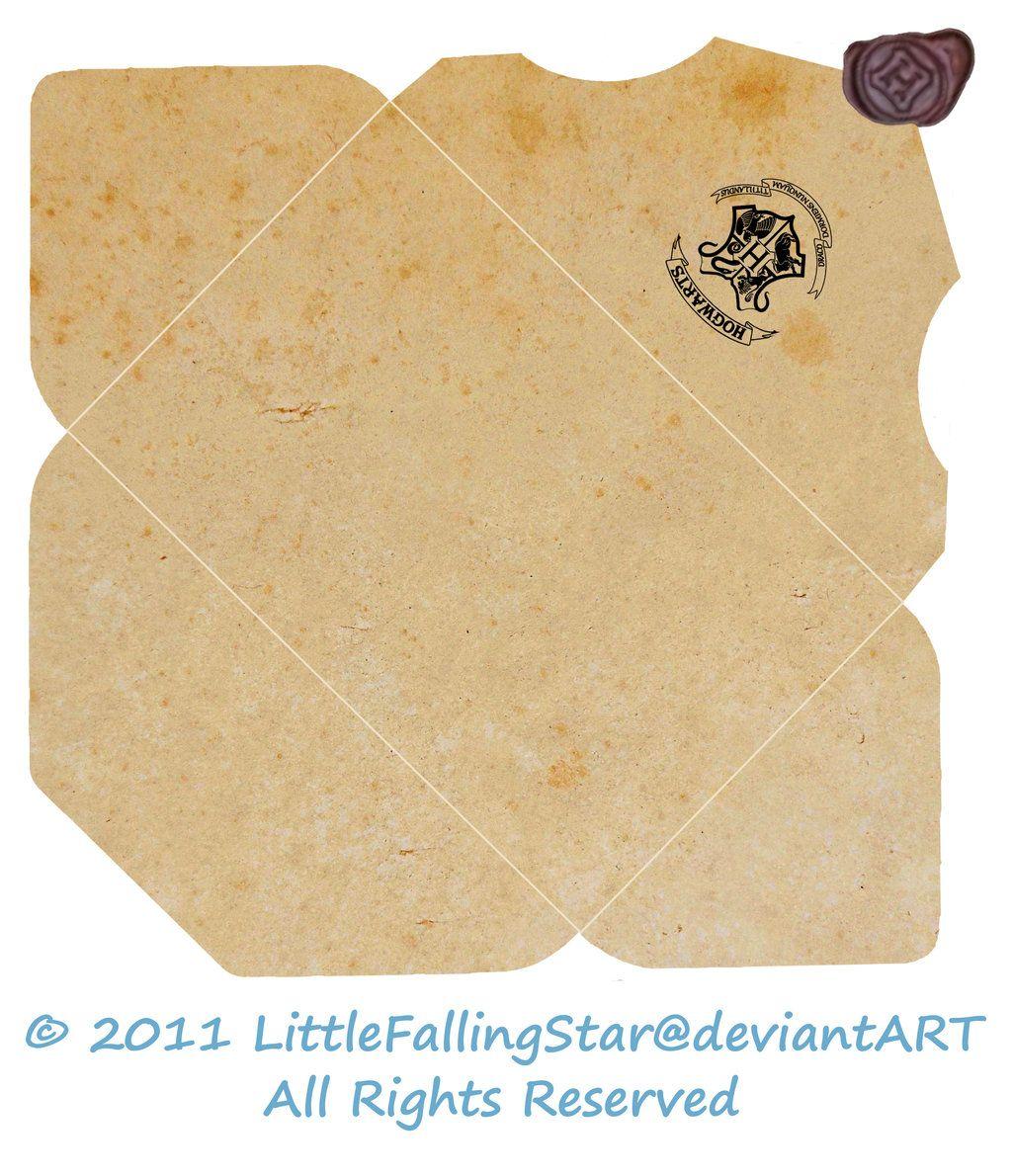 Hogwarts Envelope by LittleFallingStar Carta de harry