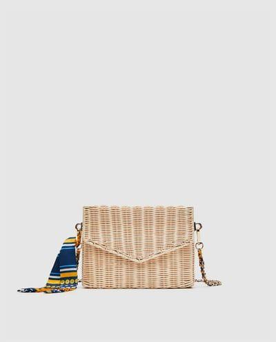 varios colores sin impuesto de venta super especiales Imagen 2 de BANDOLERA RAFIA de Zara   Fashion   Bolso ...