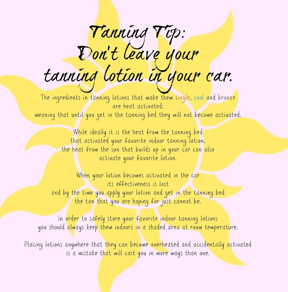 Hollywood Tans Tanning Tip Don't leave your tanning