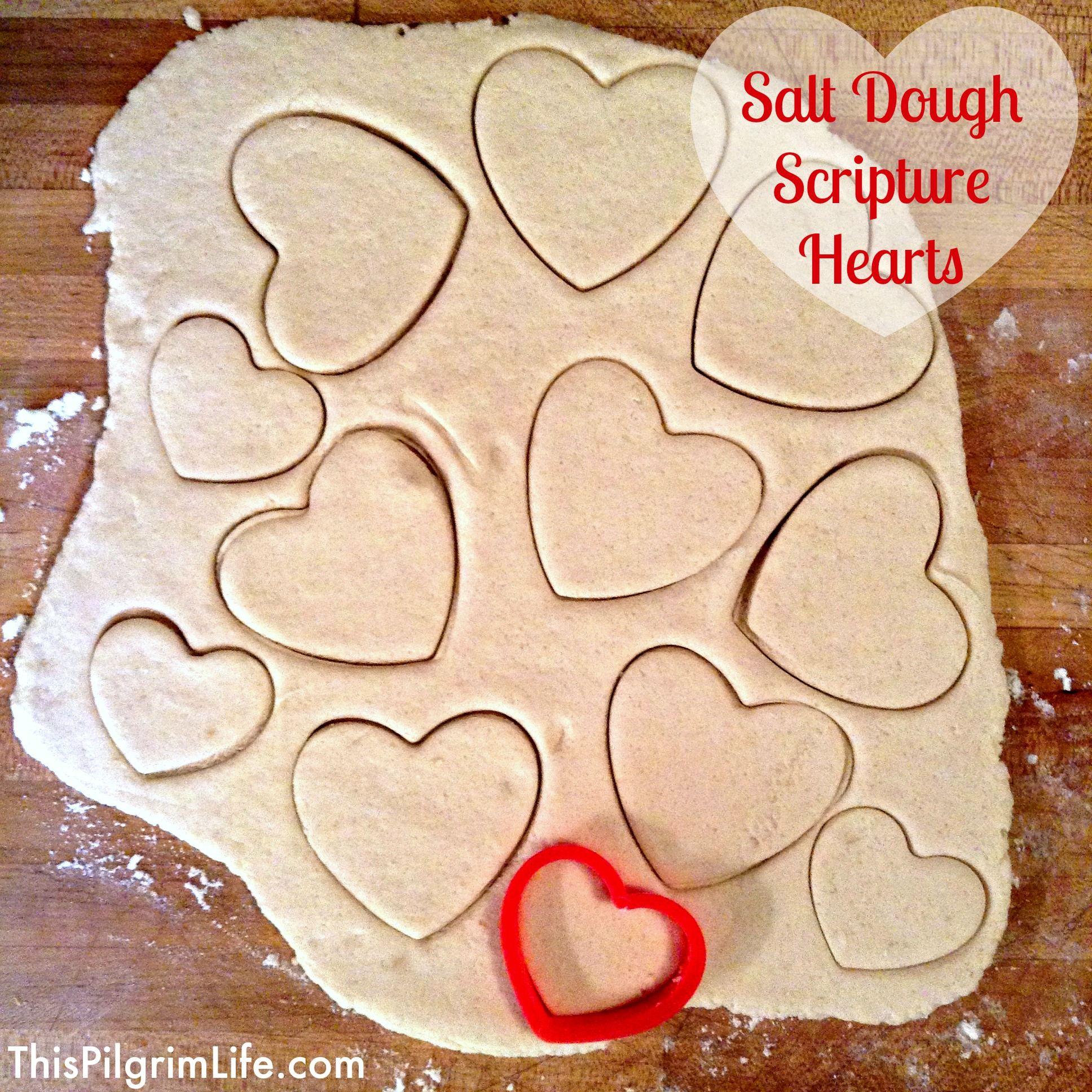 salt dough scripture valentines - Christian Valentine Crafts