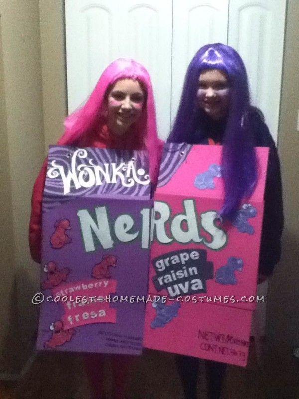 Nerds Girls Couple Costume  sc 1 st  Pinterest & Nerds Girls Couple Costume | Pinterest | Costumes