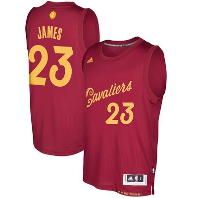 Men's Cleveland Cavaliers LeBron James adidas Burgundy 2016 Christmas Day  Swingman Jersey