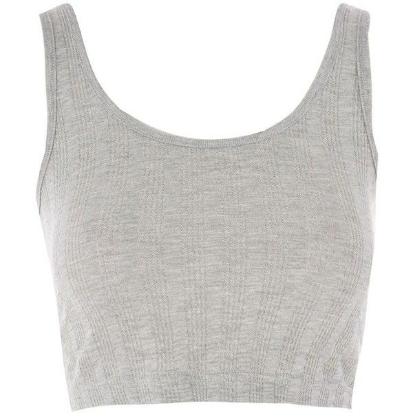 44dcddbd5c3ec TopShop Ribbed Crop Vest Top ( 10) ❤ liked on Polyvore featuring tops