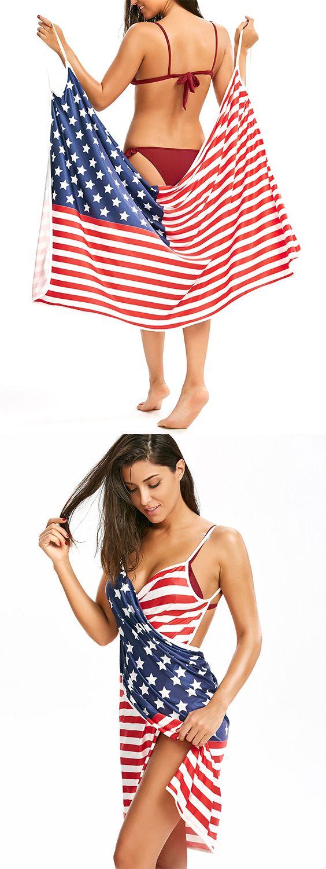 c494d8693f5 Patriotic Cover Up American Flag Slip Dress   Beach Cover Ups ...