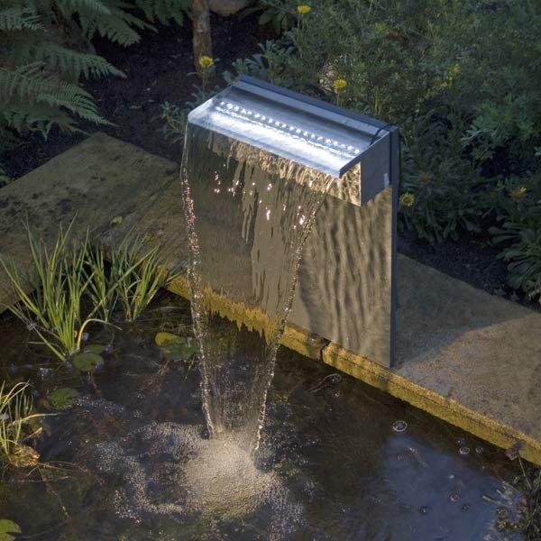 Set Cascade bassin de jardin Niagara LED 60cm - Ubbink - Maison ...