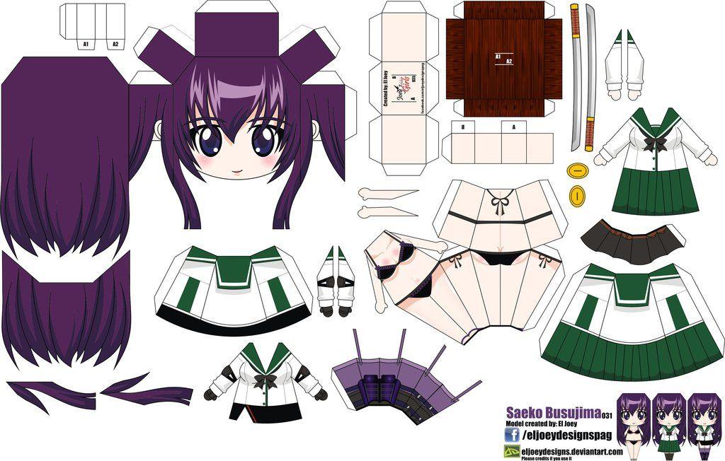 Saeko Busujima (Joey's Chibi Girls 035) by ELJOEYDESIGNS
