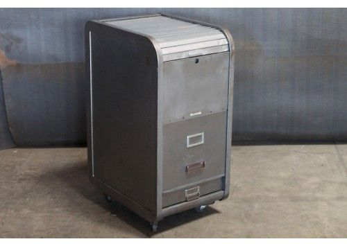 Metal Roll Top Filing Cabinet Like The Styling Of This Even If