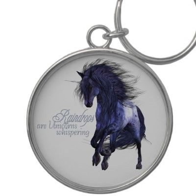 Blue Unicorn Keychain $19.95