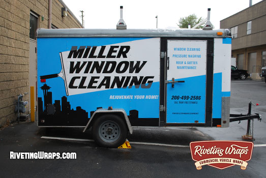 Cleaning Service Enclosed Trailer Wrap Reflects Quality Enclosed