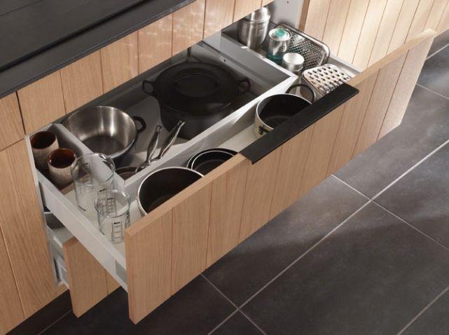 Rangement Casserolier Casto Idées Pinterest Meuble De - Meuble cuisine casserolier 120 cm pour idees de deco de cuisine
