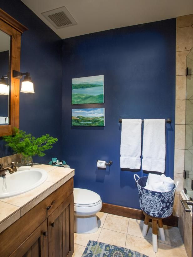 Rooms Viewer Hgtv With Images Blue Brown Bathroom Blue
