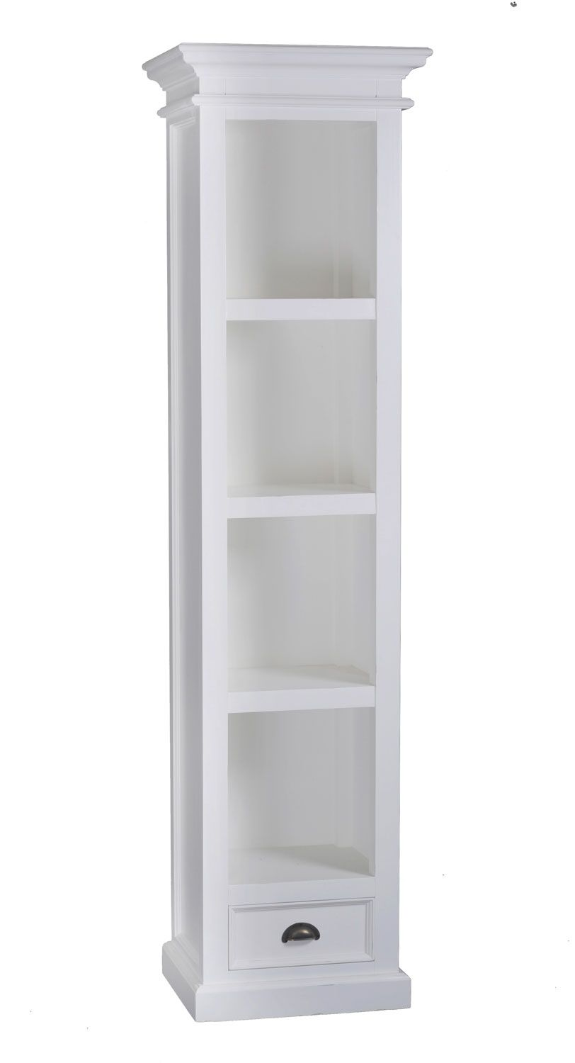 Delightful Tall Narrow White Bookcase   Best Way To Paint Wood Furniture Check More At  Http: