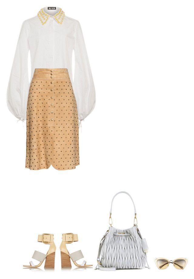 """""""."""" by fashionmonkey1 ❤ liked on Polyvore featuring Holly Fulton, Lanvin, Sigerson Morrison and Miu Miu"""