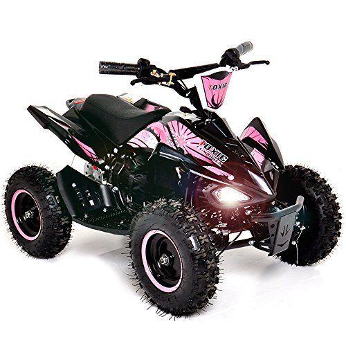 Funbikes Toxic 800w Kids Electric Mini Quad Bike Pink Girls