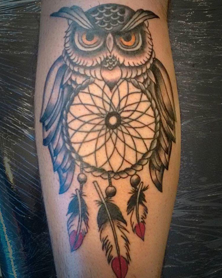 Resultado De Imagen Para Tattoo Buho Con Atrapasuenos Tattos Y
