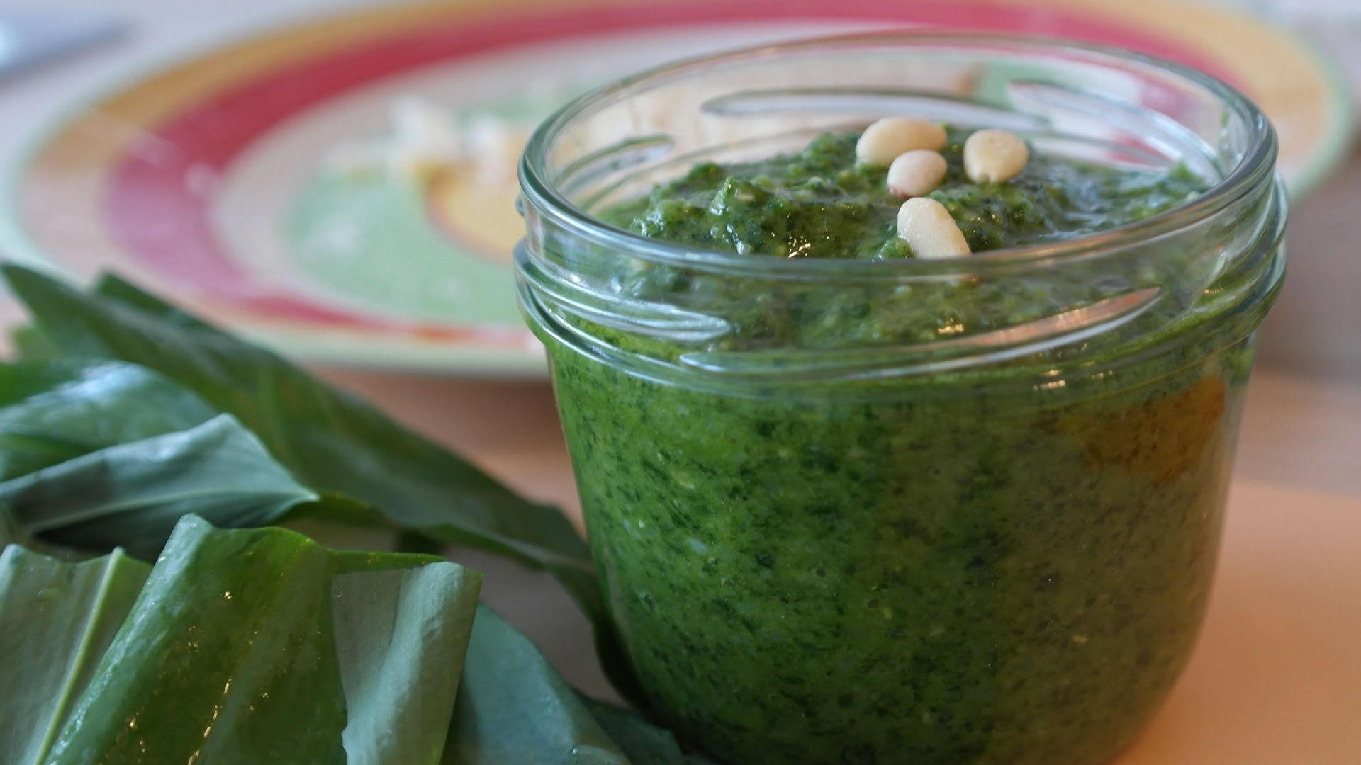 Spinach With Pine Nuts and  Garlic. Side Dish Alarm! Try it with fried eggs a super fast meal!