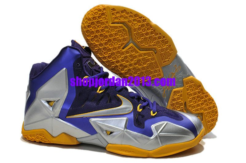 Nike #LeBron 11 Purple/Silver/Yellow Lebron James Shoes #shoe