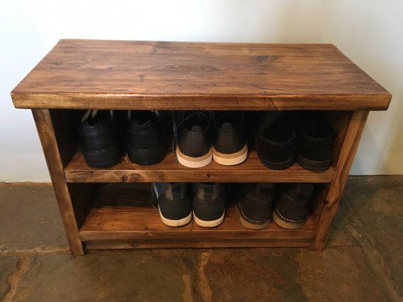 estante del zapato Banco asiento Banco de estante del zapato ...