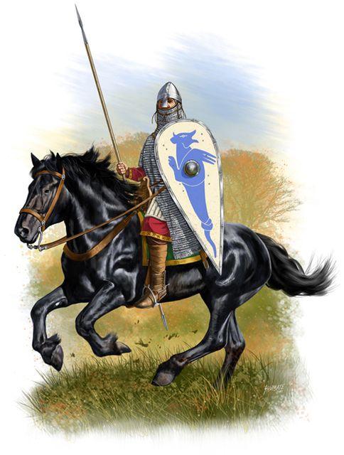 Norman Knight 1066 Ad Warriors Illustration Norman Knight Historical Warriors