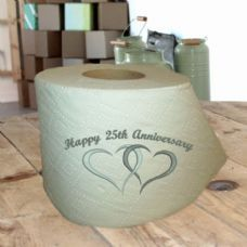 Anniversary Toilet Paper, Ideal Silver Anniversary Gift ...