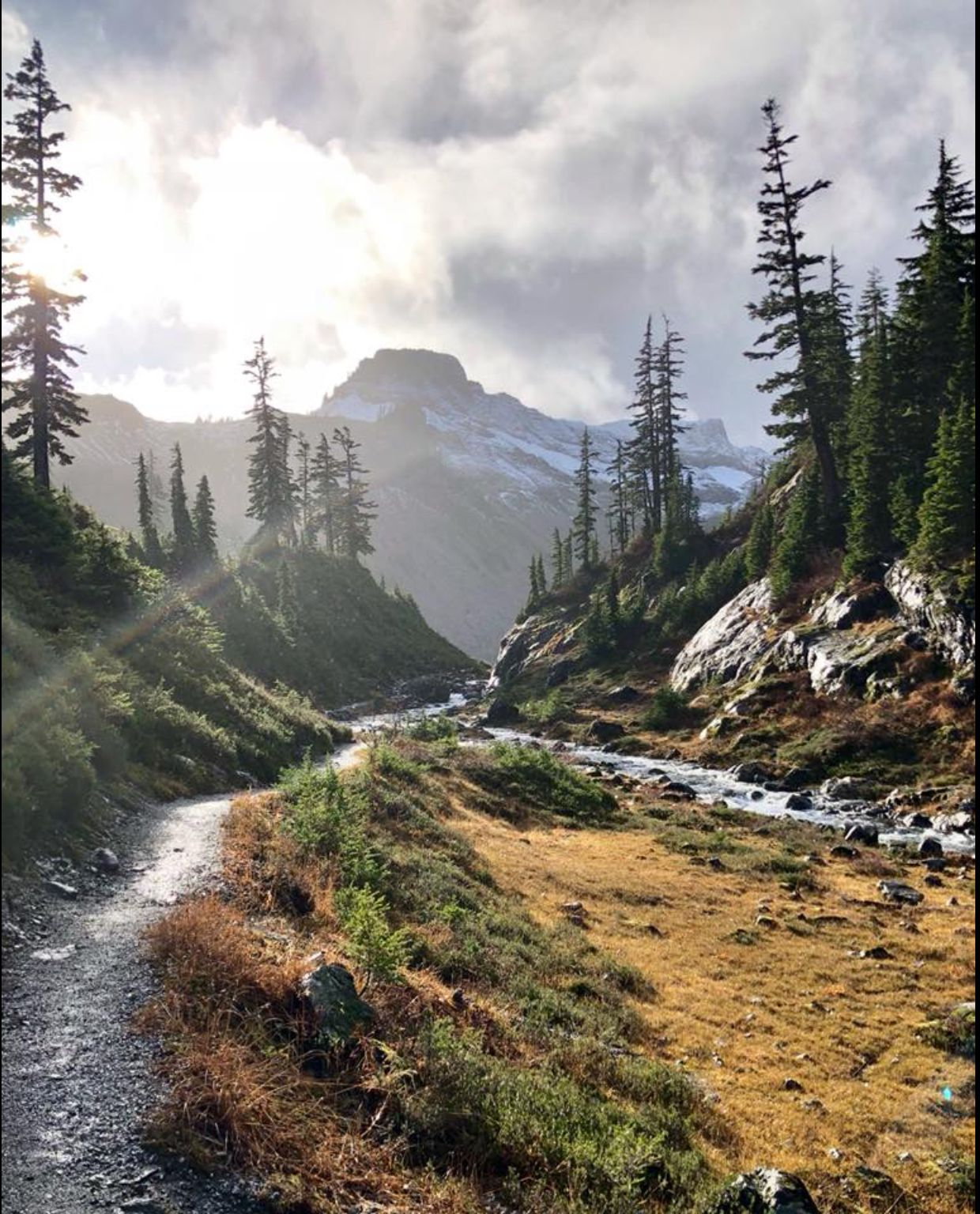 Barley Lakes trail, near the start of the road to Artist