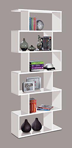 Zig Zag White Gloss Bookcase By Hogar Decora Http Www