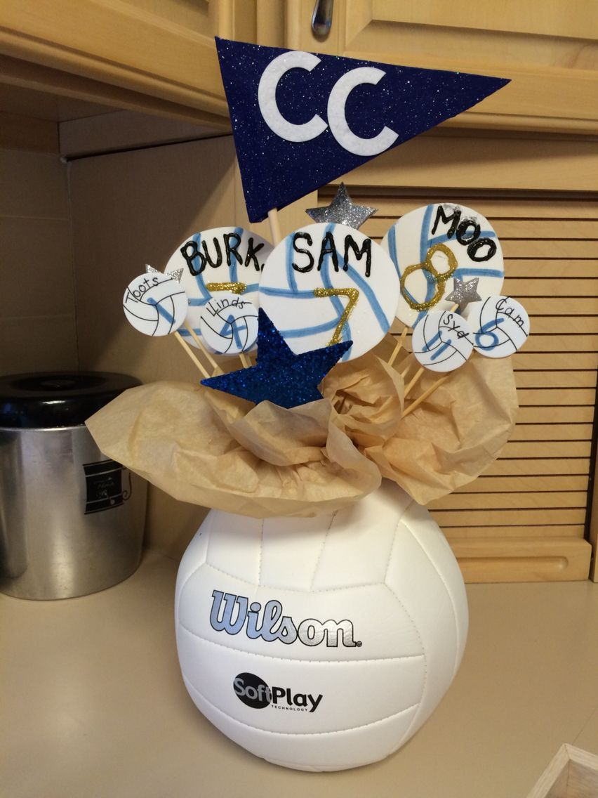 Volleyball sports banquet centerpiece decorations for Athletic banquet decoration ideas