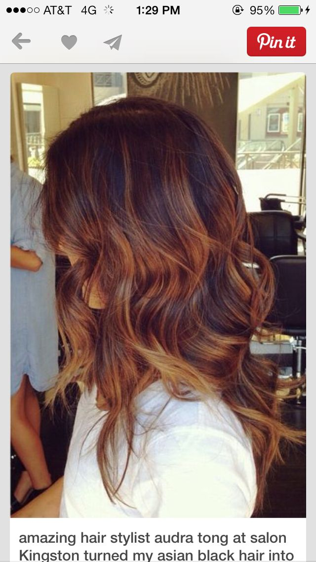 This Reddish Brown Is Fire Lets Get Pretty Pinterest Reddish