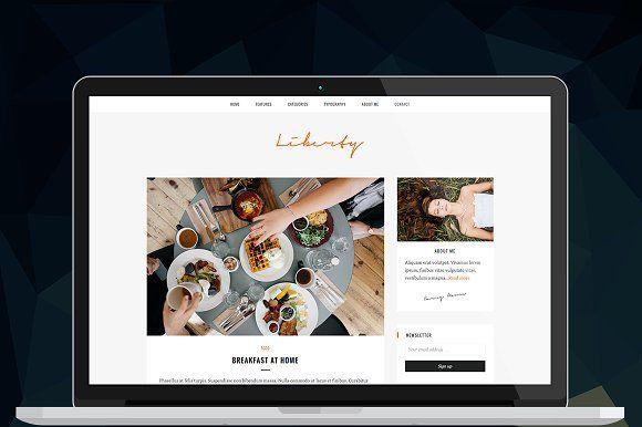 Liberty - Responsive Blog Theme by ThemeNeo on @Graphicsauthor ...