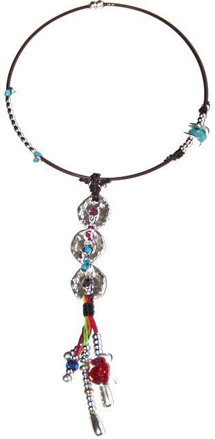 """#Collar étnico """"me gusta"""" realizado con hilo de algodón y zamak. http://nellass.com/products/me-gusta..html $45.50-35€ #necklace"""