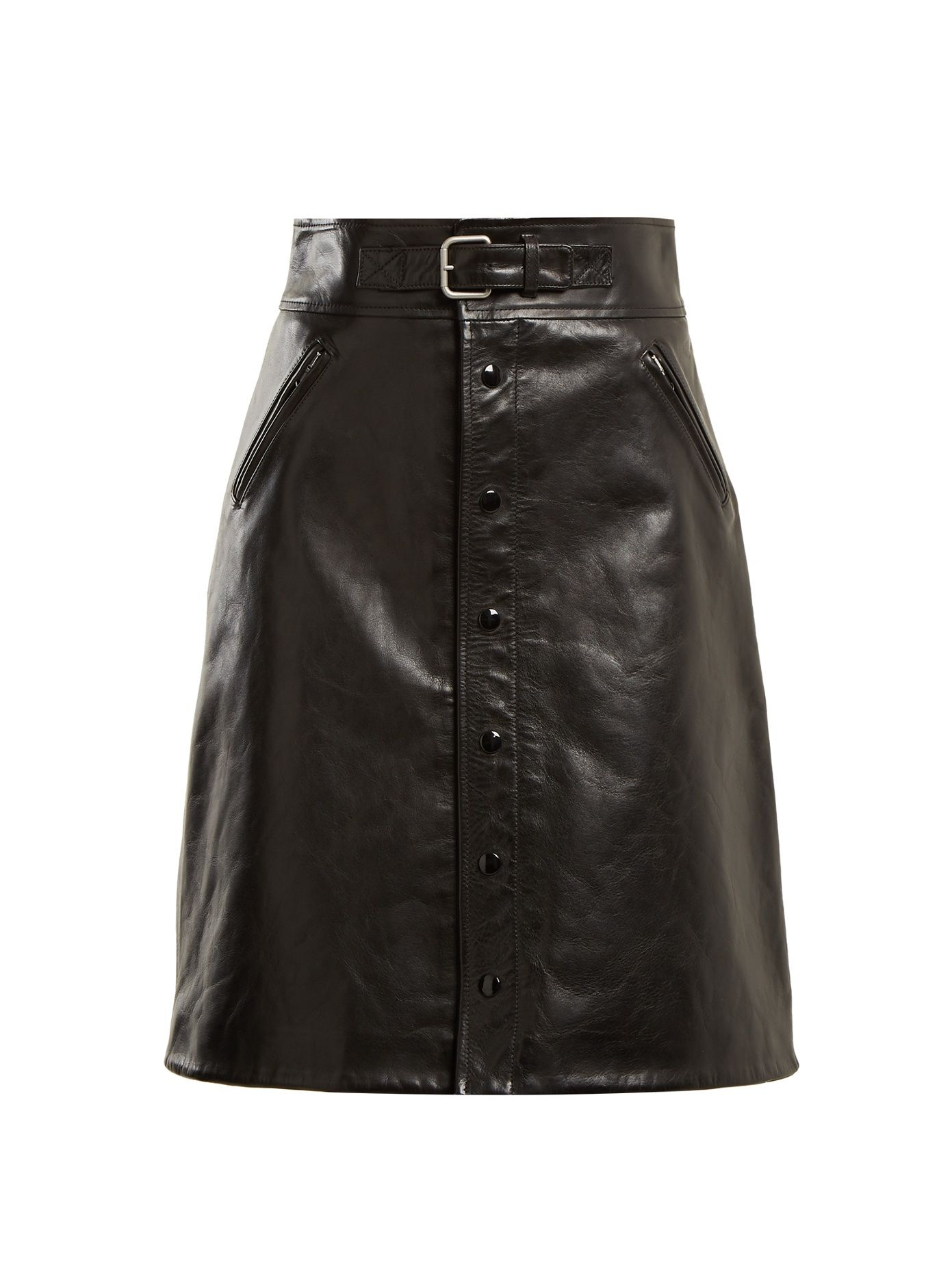 2326a8c1a RED VALENTINO HIGH-RISE LEATHER SKIRT. #redvalentino #cloth # | Red ...
