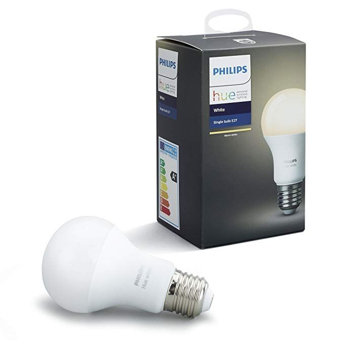 Philips Hue White A19 E27 60 W Equivalent Dimmable LED