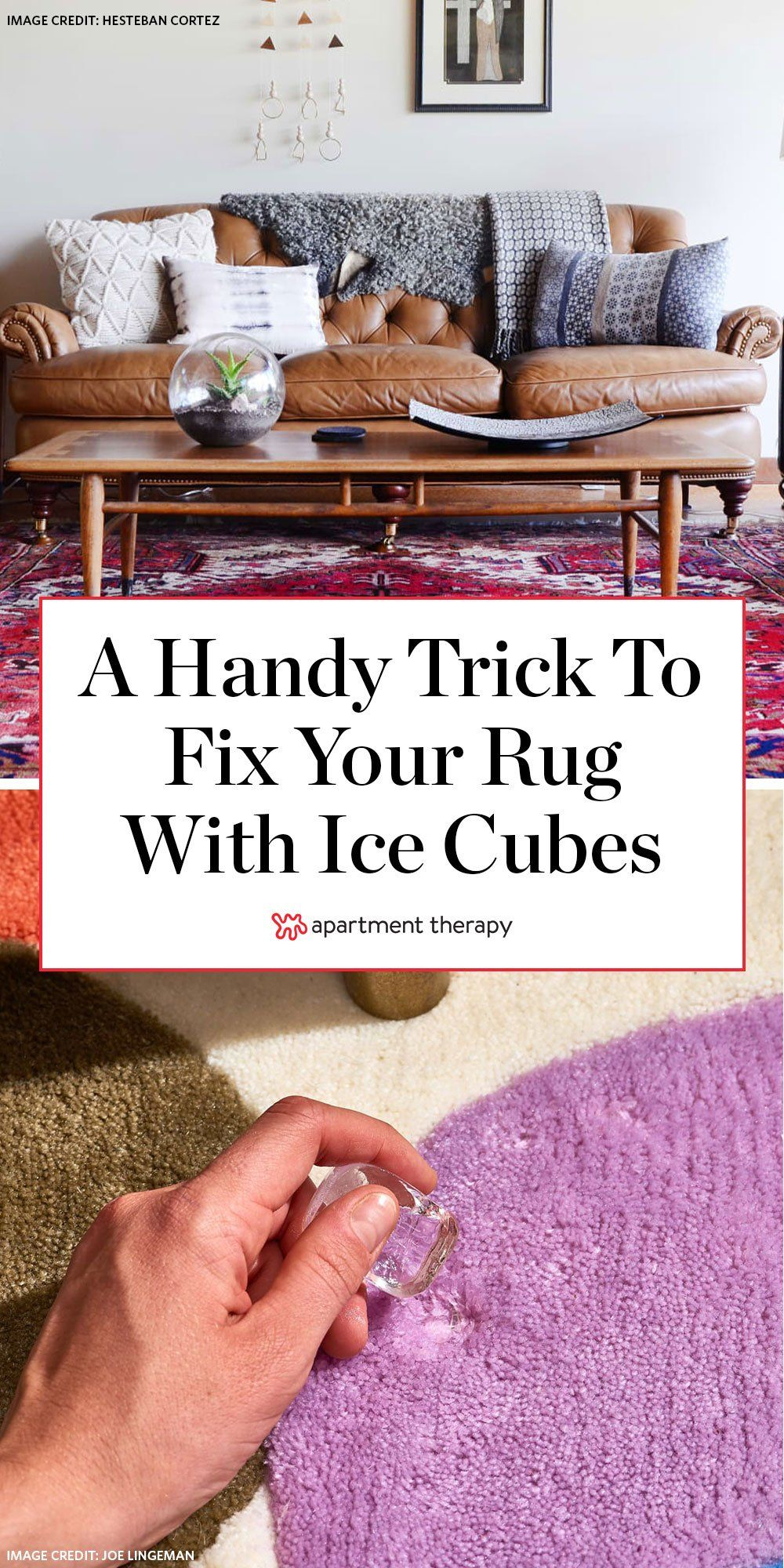 Why You Should Let Ice Cubes Melt On Your Rugs And Carpet Living Room Hacks How To Clean Carpet Clean Living Rooms