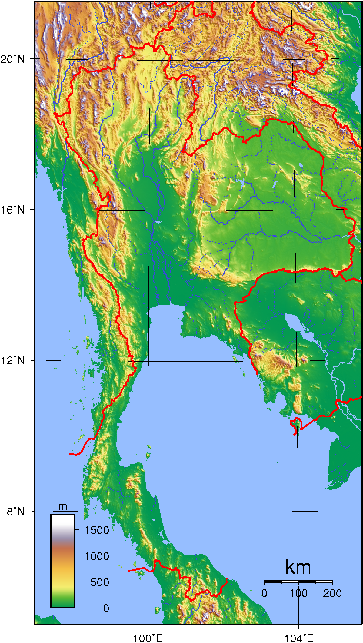 Thailand Topographic Map.Topographic Map Of Thailand Maps Thailand Tourism Thailand Tourism