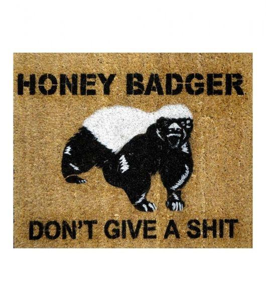 Honey Badger Don\u0027t Give a St Door mat outdoor by DamnGoodDoormats.